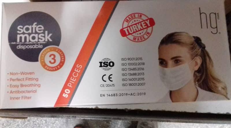 mostra masca turcia coronavirus