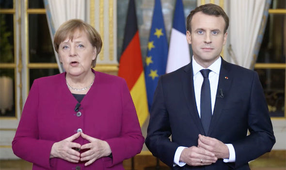 Angela Merkel şi Emmanuel Macron