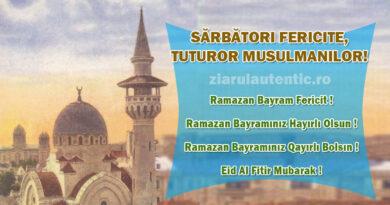 Bayram fericit tuturor musulmanilor! Musulmanii din întreaga lume sărbătoresc 3 zile, Ramazan Bayram-ul