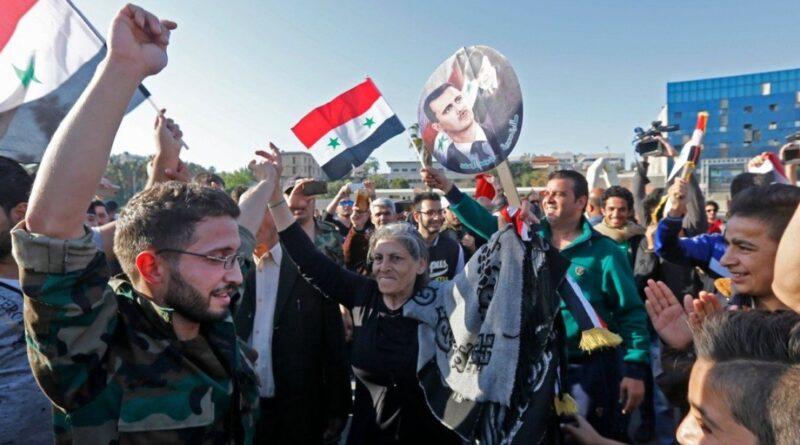 Sirienii s-au împușcat de fericire