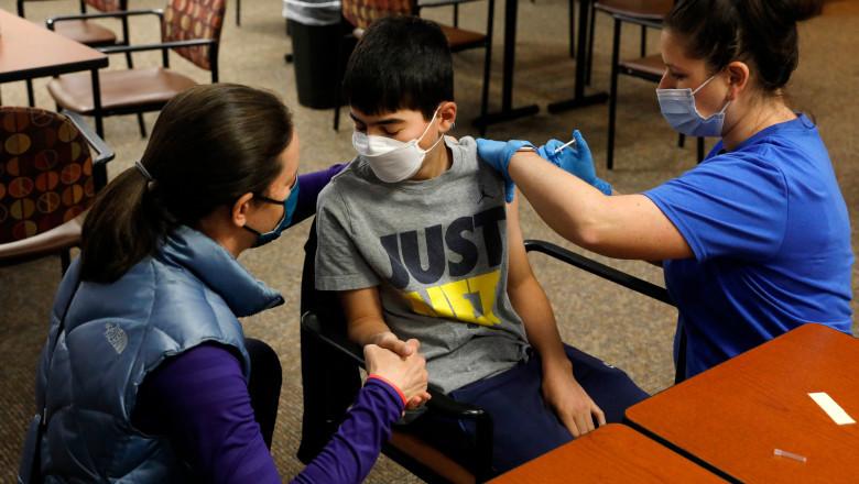 România cu cei mai mulți copii vaccinați din UE